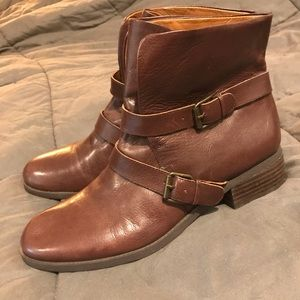 Nine West Brown Ankle Boots with Buckles
